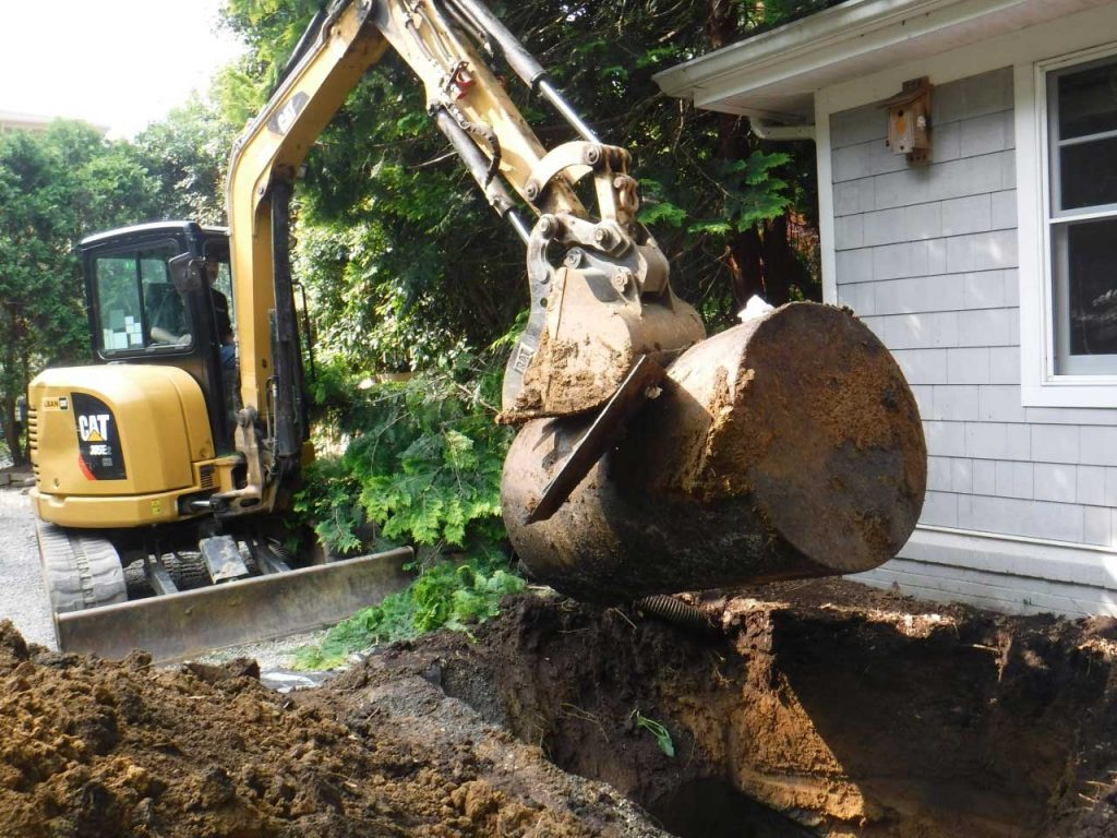 Underground oil tank removal in Maryland