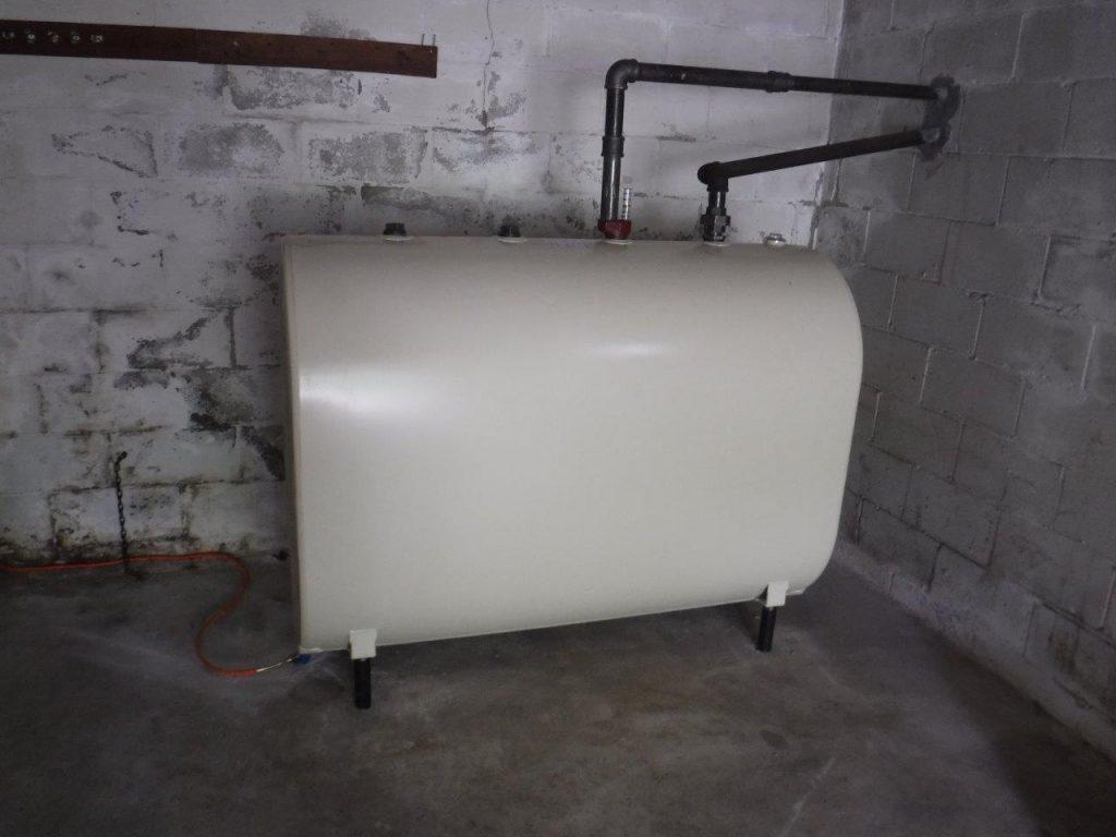 oil tank in a basement